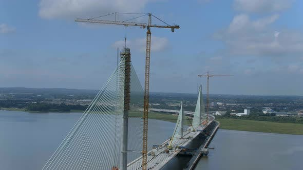 Thumbnail for Cable Stayed Bridge in the Late Construction Phase