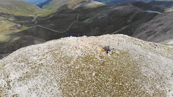 Thumbnail for Group of Climbers on Mountain Peak