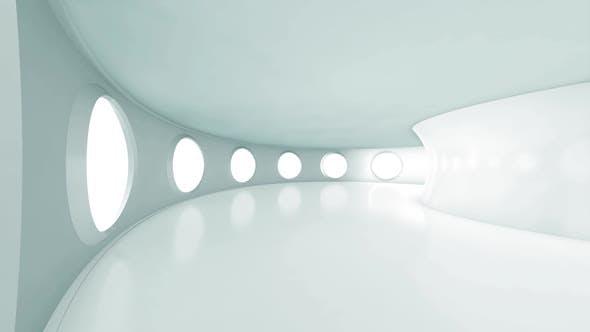 A futuristic hallway