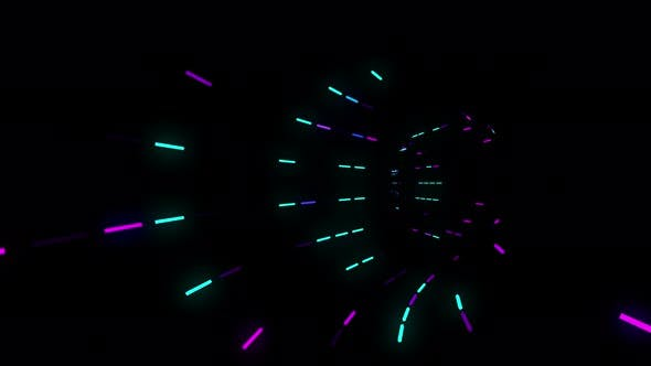 Thumbnail for Deep Neon Tunnel 4K