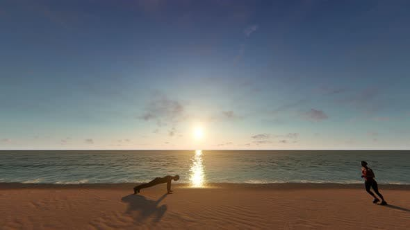 Cover Image for 4K Healthy Lifestyle - Beach
