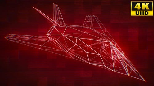 Cyberpunk Stealth Combat Jet Fighter Loops Pack V1