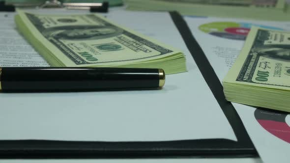 Thumbnail for Business Contract And Financial Investments In Dollars