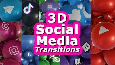 Social Media Transitions 3D