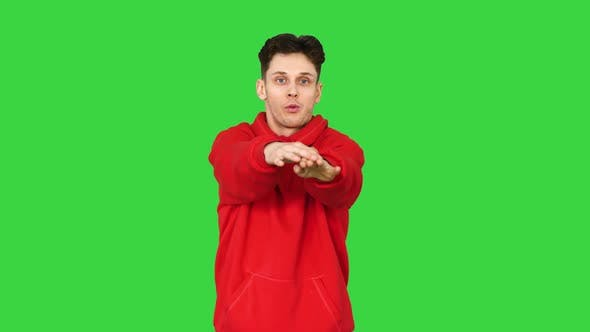 Thumbnail for Breakdancer Freestyle Electric Boogie Dance on a Green Screen, Chroma Key.