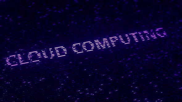 Thumbnail for Purple CLOUD COMPUTING Words Made with Flying Particles