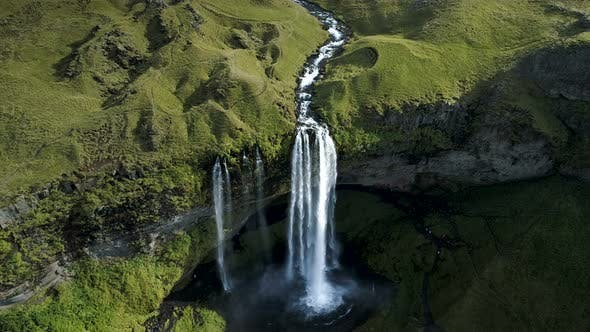 Thumbnail for Wild Iceland Nature Landscape And Powerful Waterfall