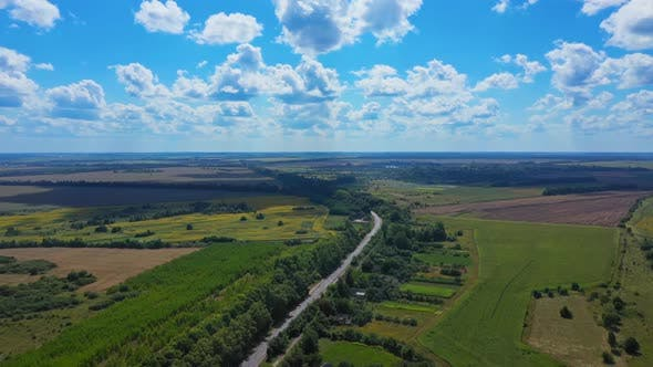 Thumbnail for Aerial View Road Background Landscape