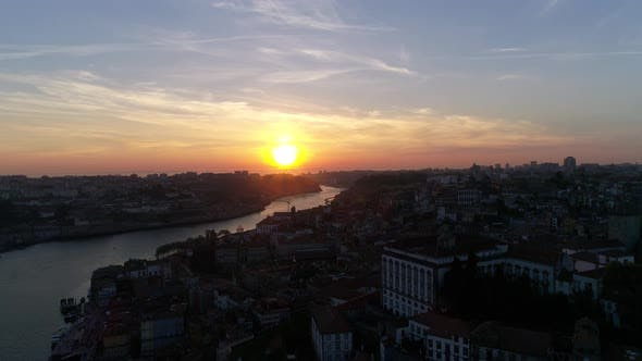 Thumbnail for Downtown Porto at Sunset