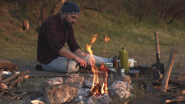 Camping and Recreational Tourism Concept