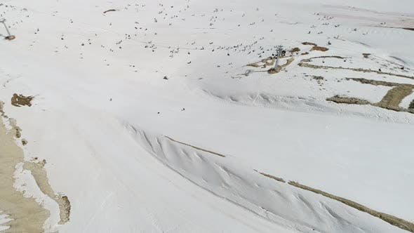Thumbnail for Snowy Mountains And Ski Center Aerial View 10
