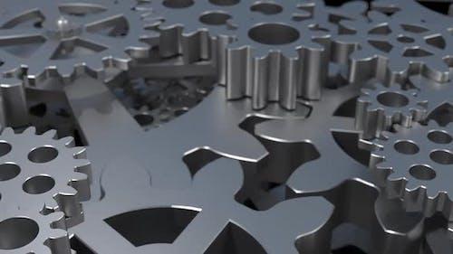 gear animation, cogwheel, mechanical movement, engineering background animation