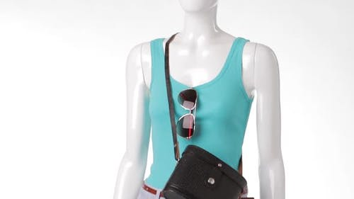 Turquoise Tank Top on Mannequin.