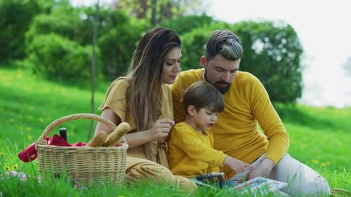 Family on a picnic