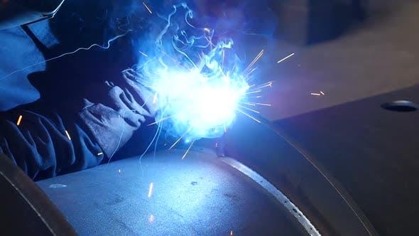Thumbnail for Man Finishing Metal Welding