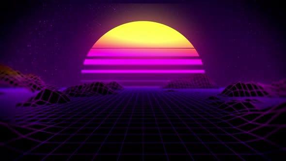 80's Retro Background