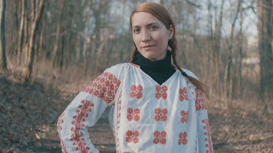 Folk Traditional Romanian Blouse Woman