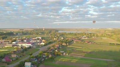 Balloons Flight Landscape