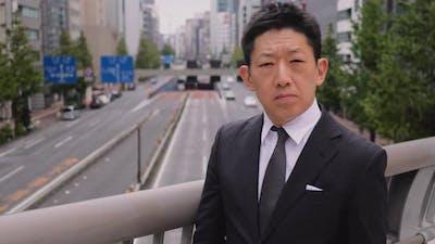 Portrait of a Japanese Businessman in Tokyo Japan