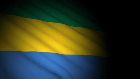 Thumbnail for Gabon Flag Blowing in Wind