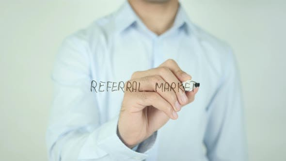 Referral Marketing�, Writing On Screen