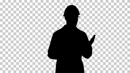 Silhouette  Scientist presenting , Alpha Channel