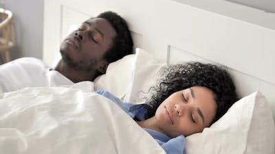 Sleeping African Couple
