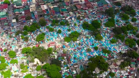 Manila North Cemetery Aerial View.