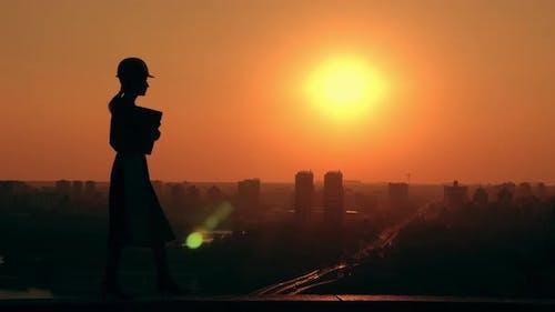 Real Estate Development Outdoors Cityscape at Sunrise