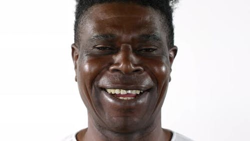 Portrait of Happy Mid-Aged African Man