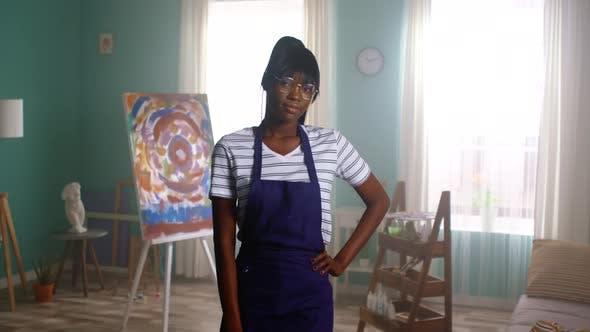 Portrait of Black Woman Artist