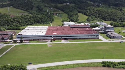 An old battery factory, the former headquarters for the Dutch UN In Sreebrenica - V1