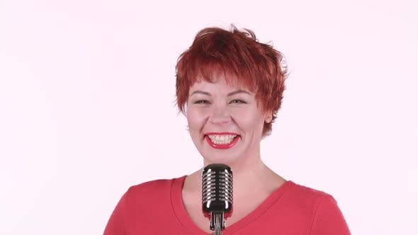Thumbnail for Singer Performs Her Song of Authorship. White Background