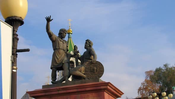 Flying Over a Monument in Russia