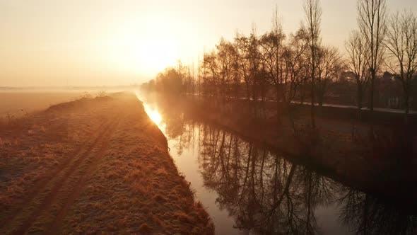 Foggy Winter Sunrise Denmark