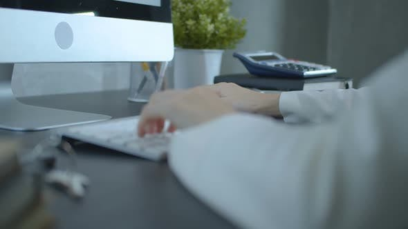 Thumbnail for Accountant Using Computer In Office