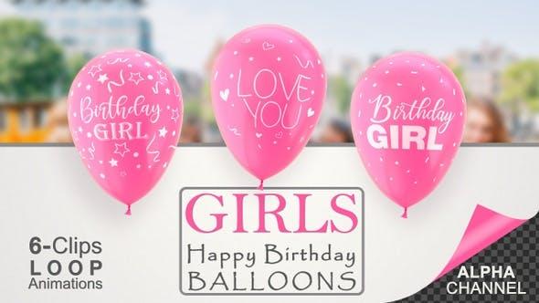 First Birthday Celebration Balloons - Baby Girl