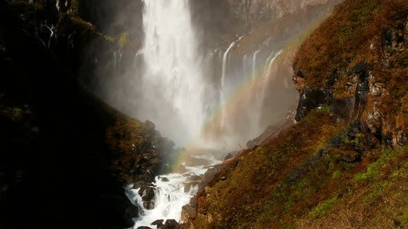 Thumbnail for Waterfall With Rainbow
