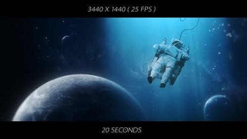 Astronaut Space Travel - Ultrawide WQHD Background