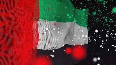 UAE Flag Particle Animation
