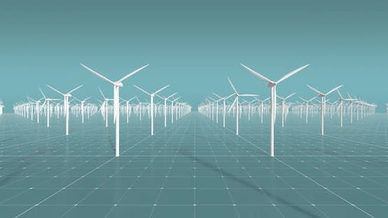 Thumbnail for 3D Wind Turbines CG Wind Farm