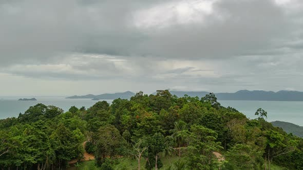 Thumbnail for Storm clouds Over the Island Samui Thailand