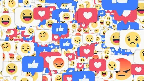 Facebook Emoji Flying