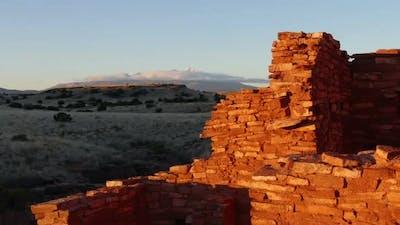 Humphrey's Peak and Lomaki Pueblo Ruins