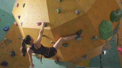Caucasian Strong Female Climber