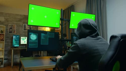 Hacker with a Hoodies Making a Dangerous Malware