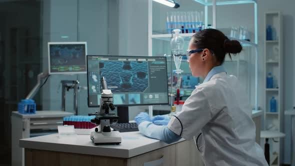 Biochemistry Specialist Doing Research in Laboratory