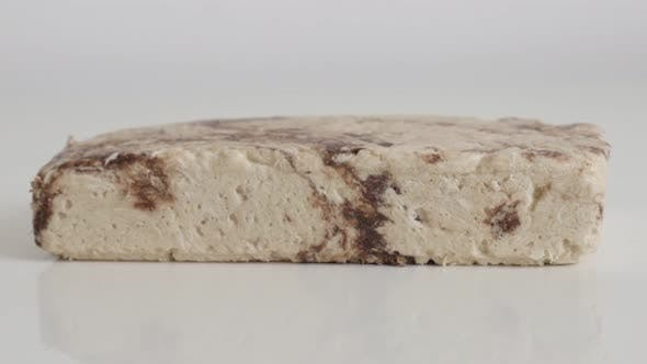 Thumbnail for Block of sesame halva  with cocoa flavor 4K footage