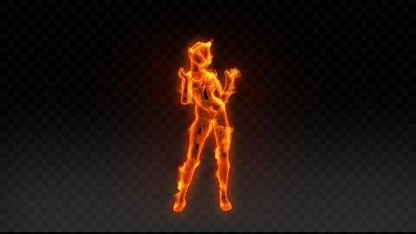 Fiery Girl Dance 6