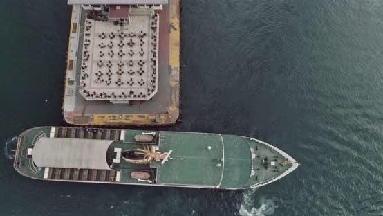 Thumbnail for Istanbul Bosphorus And Docked Ferryboat